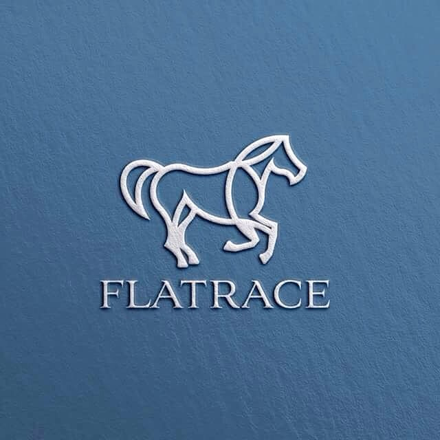 flatrace branding logo design by goran jugovic