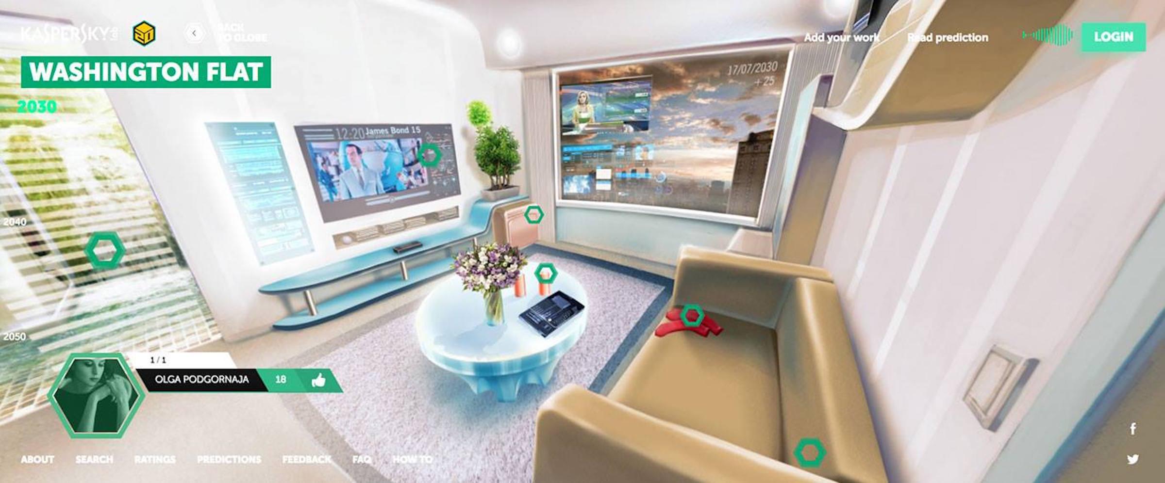 smart flat futuristic city design ideas