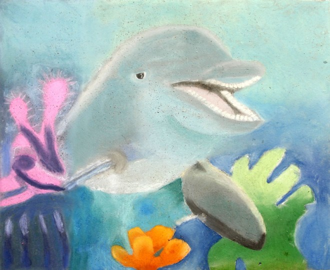 dolphin chalk art usa