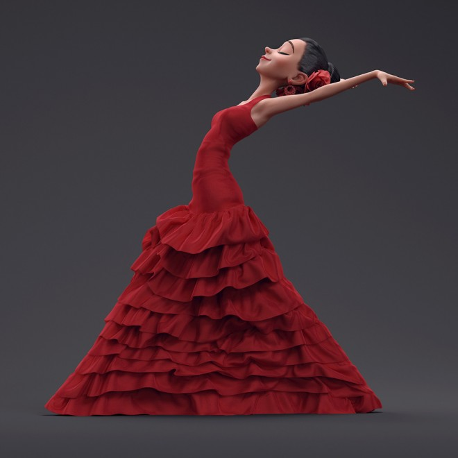 flamenco dancer 3d design