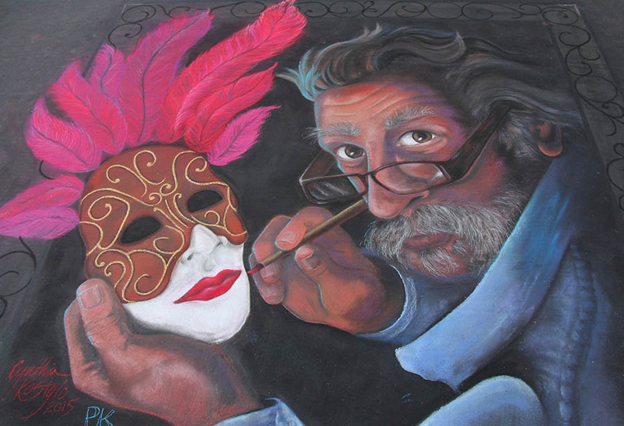 mask street painting marin