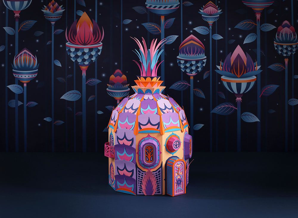 vibrant paper sculpture idea