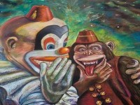 6-clowns-street-painting-by-peck-archambault