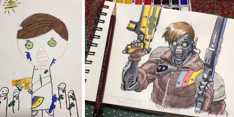 cyborg drawing