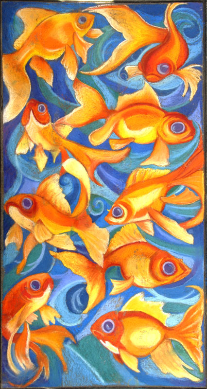 fishes chalk art usa