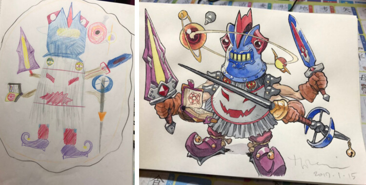 magic knight drawing
