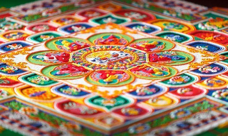 mandala sand art design