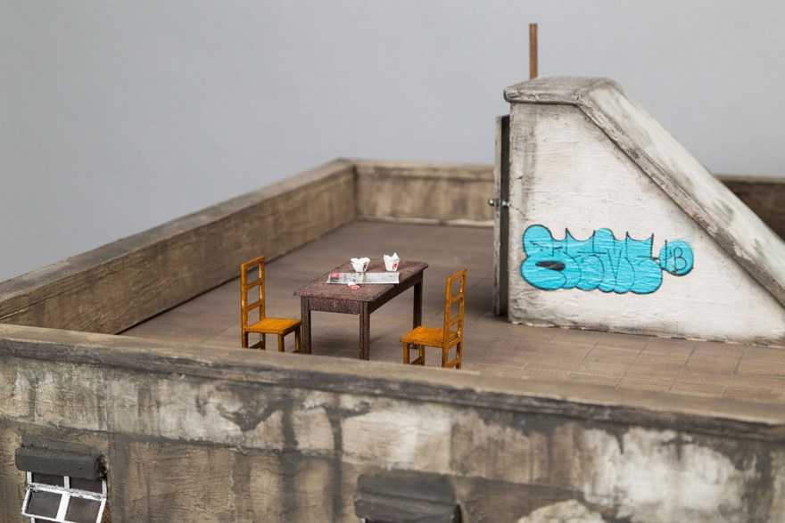 miniature architecture sculptures