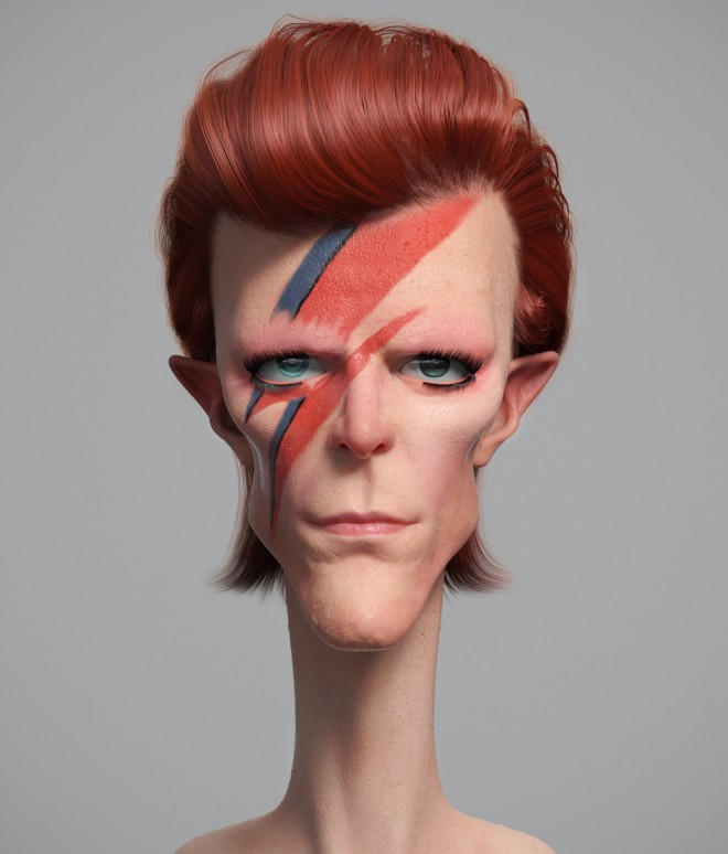 bowie 3d design by guzz soares