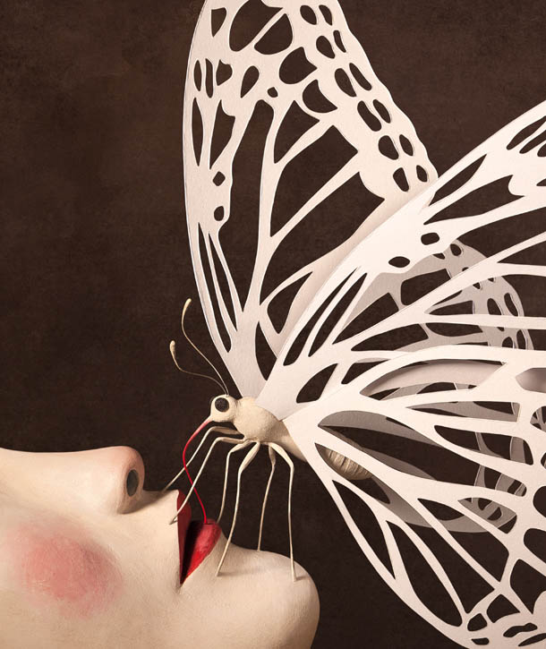 butterfly realistic clay sculptures