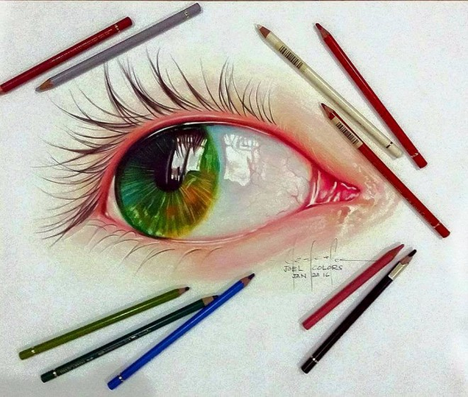 eye color pencil drawing by joelcolo