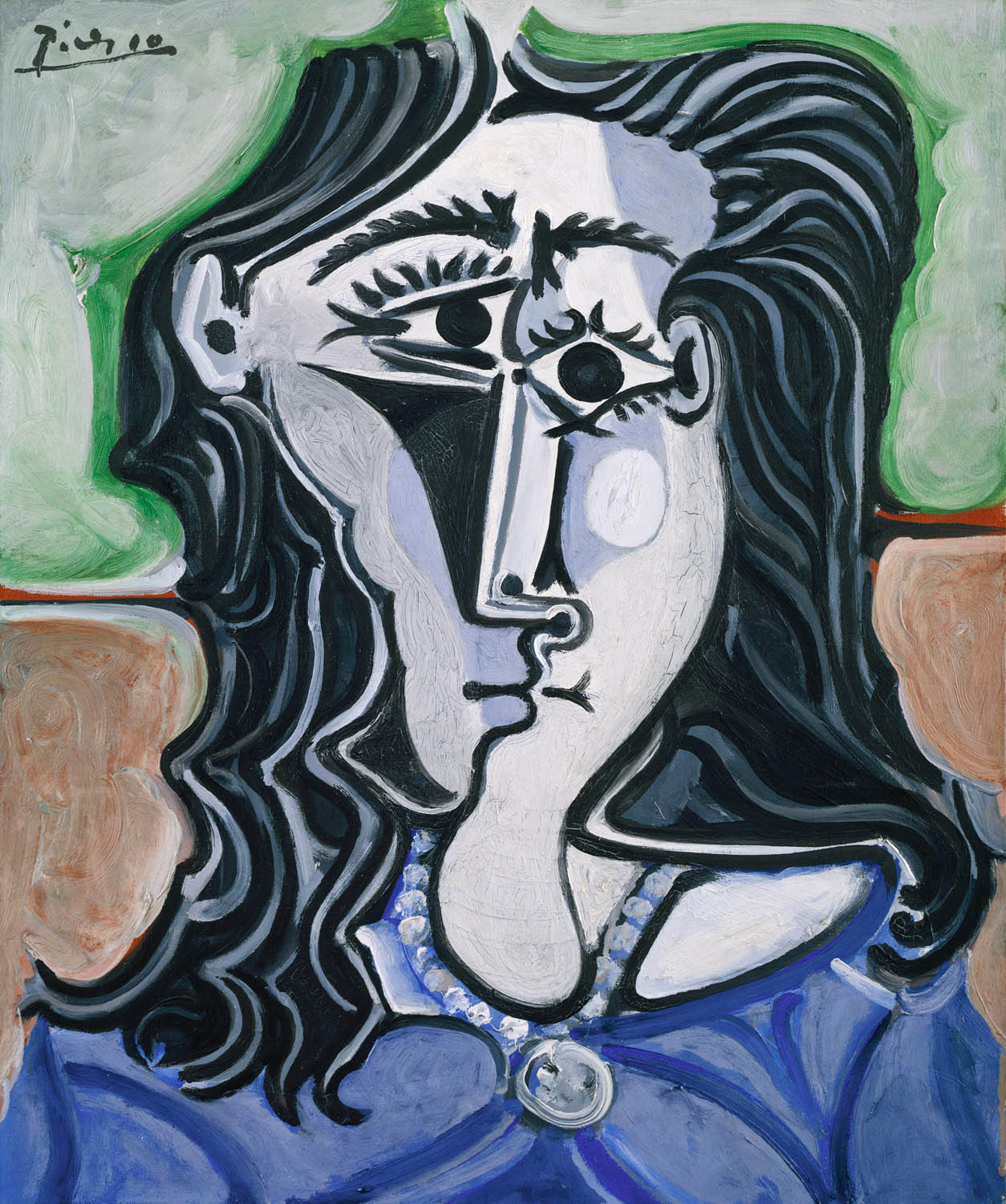 head of a woman modern painting by pablo picasso