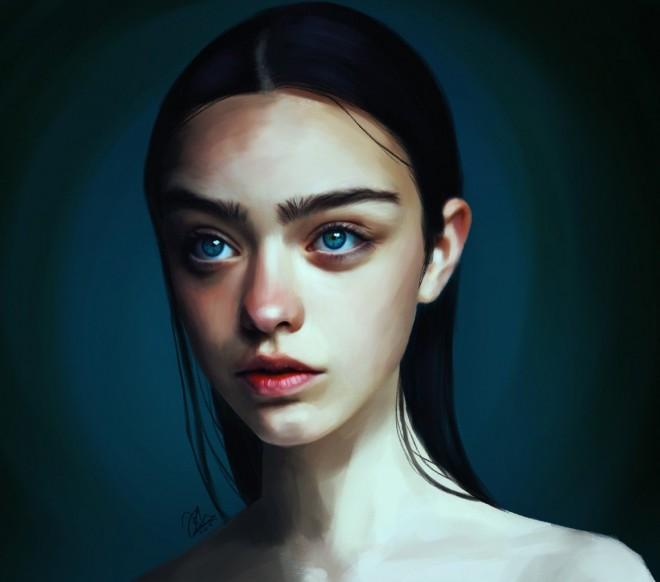 digital illustration norwegian talent portraits by irum shariff hafeez