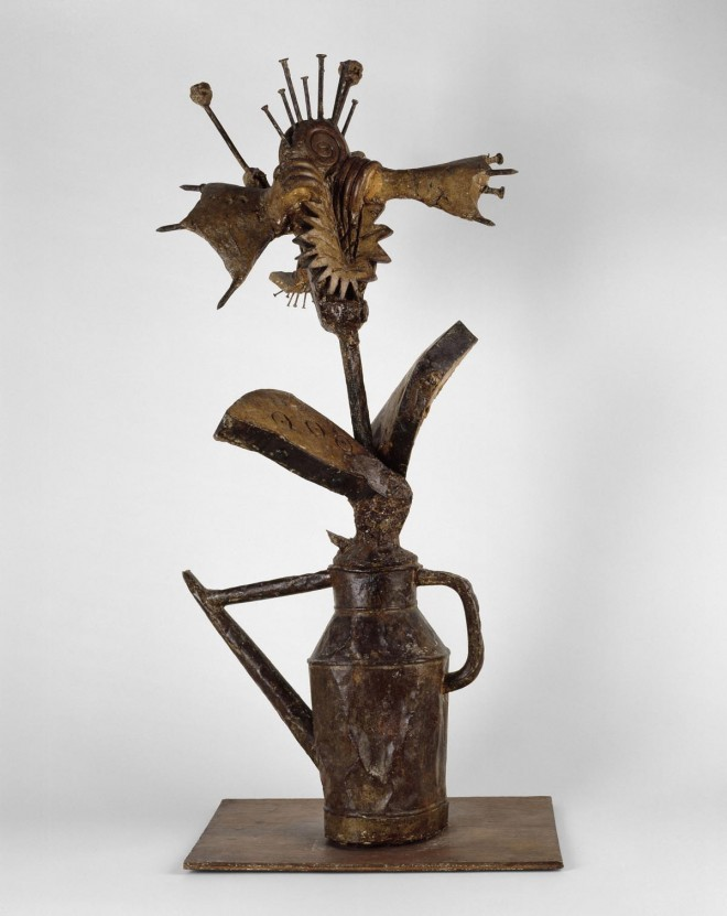 flower watercan sculpture by pablo picasso