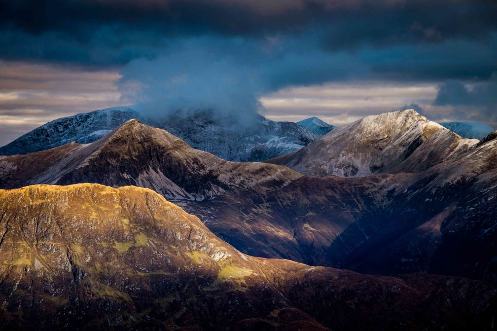 the mamores scottish photographer by paul webster