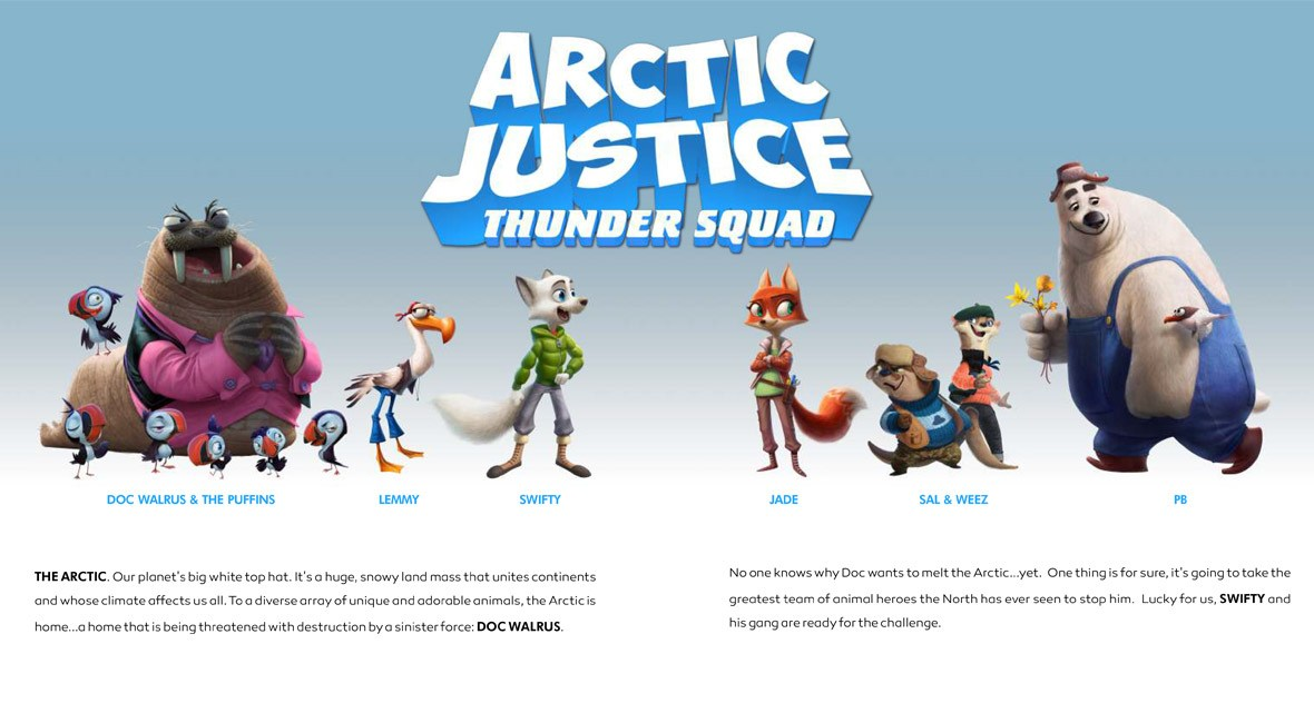 artic justice thunder squad animation movies 2018