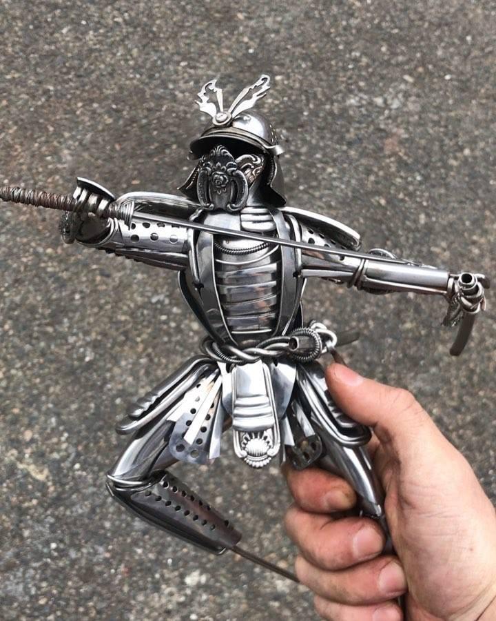 scrap metal sculptures by airtight artwork