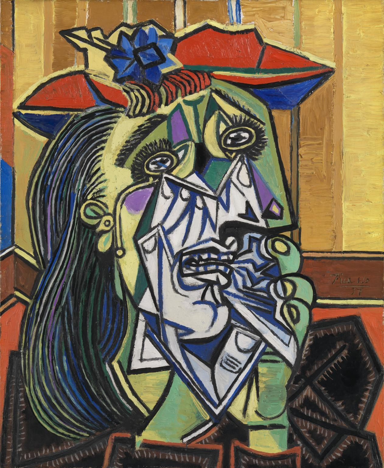 weeping woman painting by pablo picasso