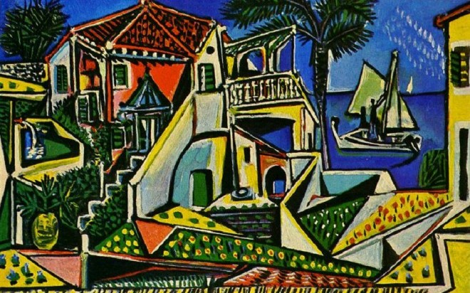 mediterranean landscape painting by pablo picasso