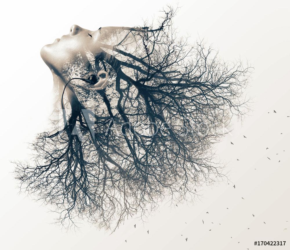 double exposure photography tree by vladimir sazonov