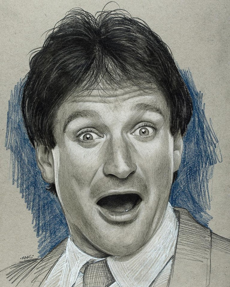 graphite drawing sketches robinwilliams