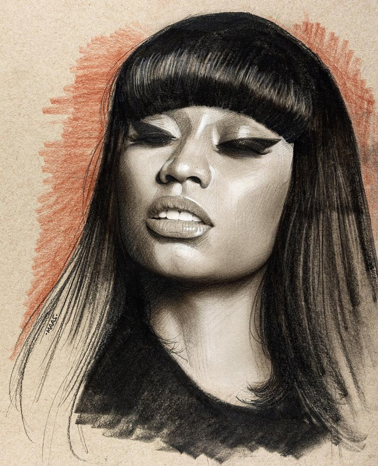 graphite drawing sketches nickiminaj