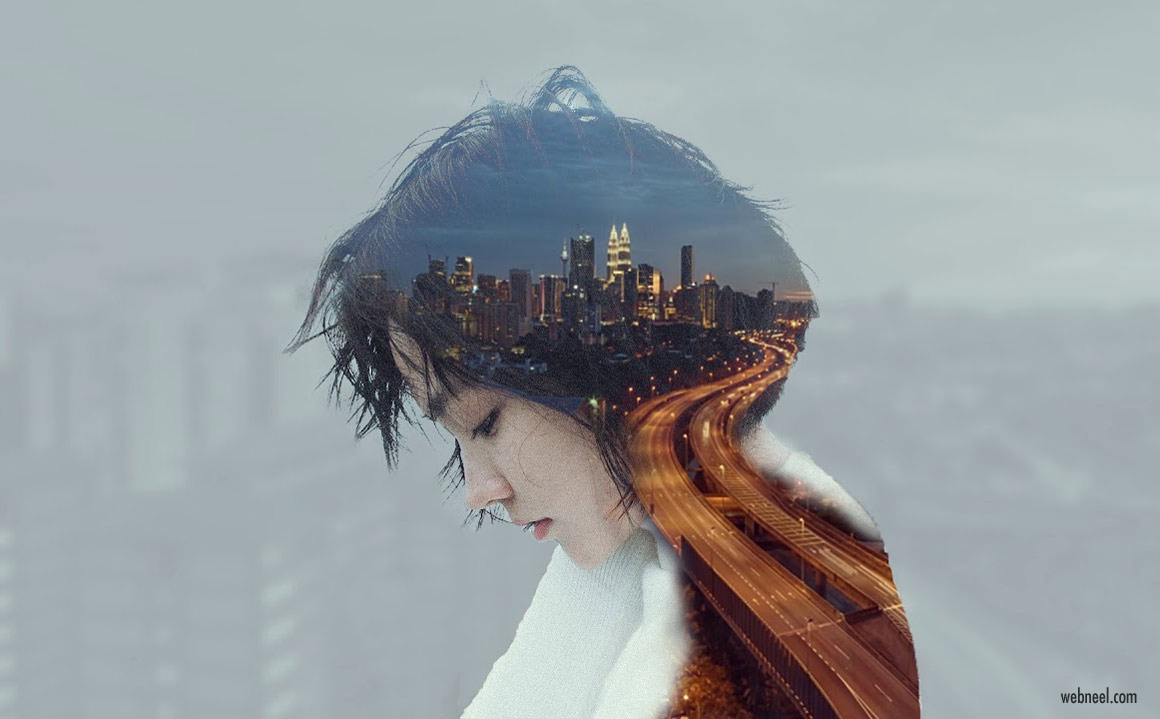 double exposure effect photo