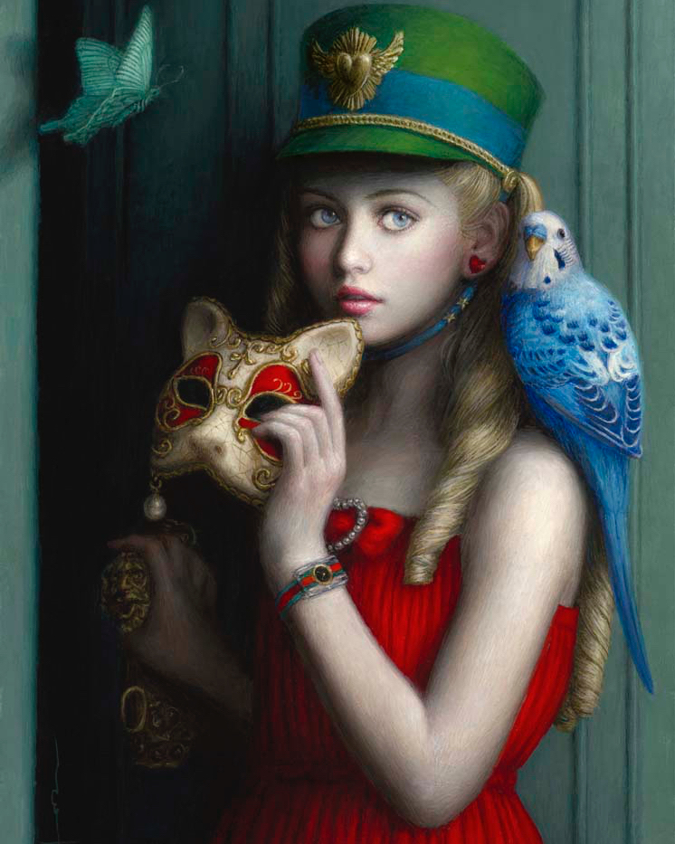 surreal art painting pet by chie yoshii