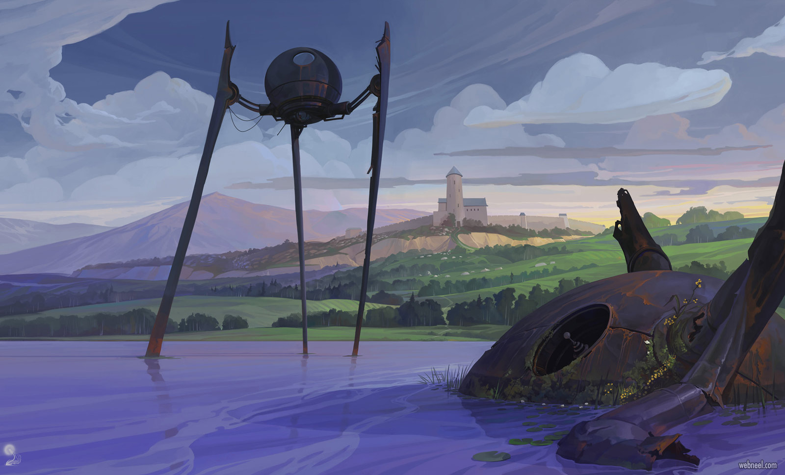 2d concept artwork spider by igor artyomenko