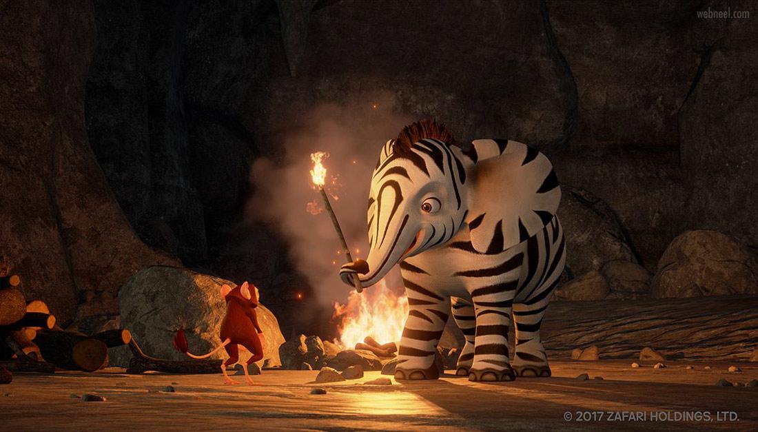 3d animation elephant zafari