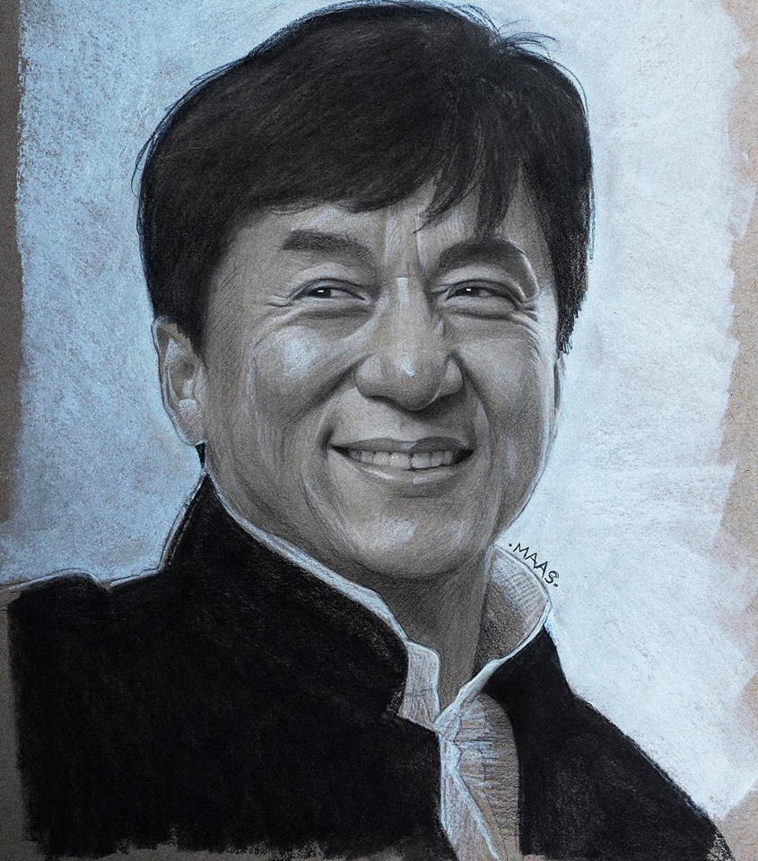 graphite drawing sketches jackiechan