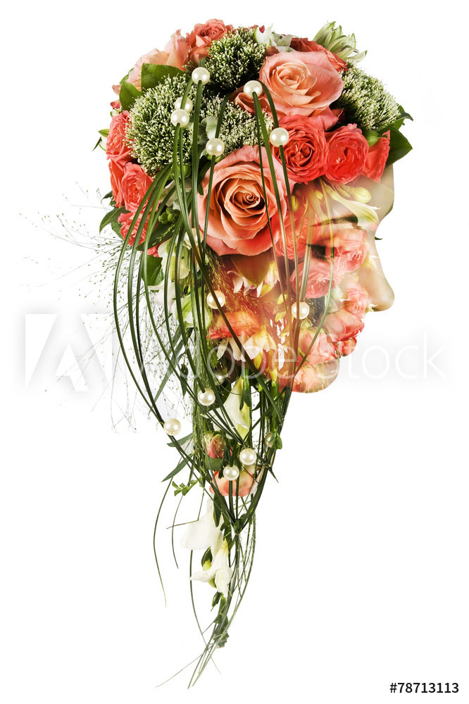 double exposure photography bouquet