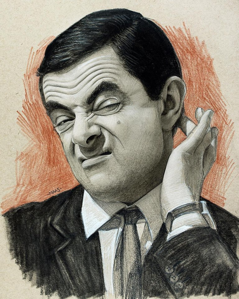 graphite drawing sketches mrbean