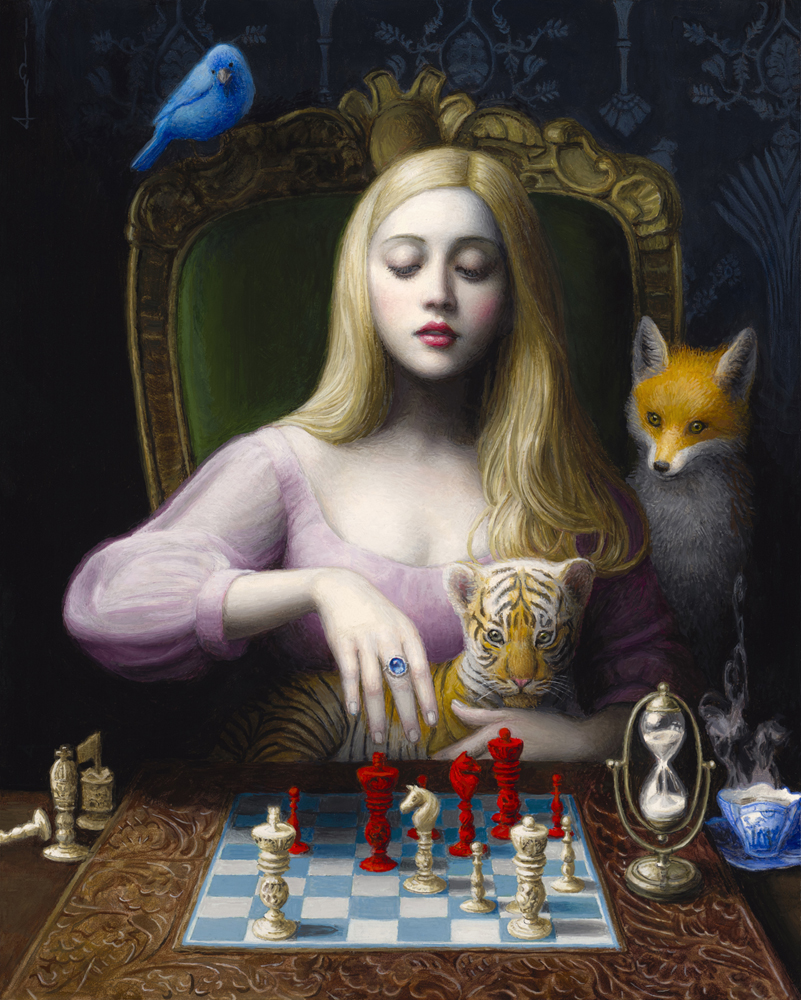 surreal art painting chess by chie yoshii