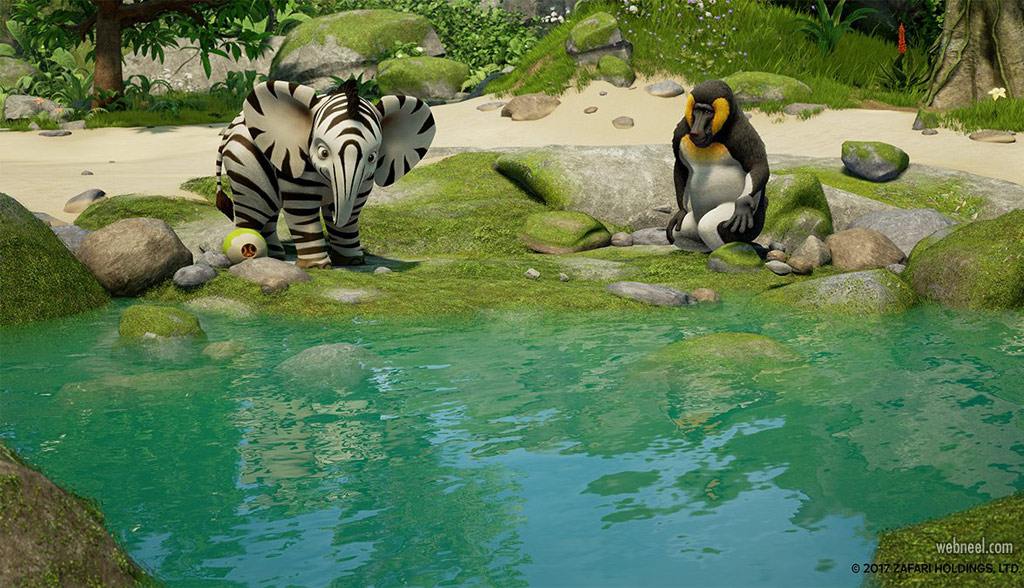 3d animation cartoon animals zafari