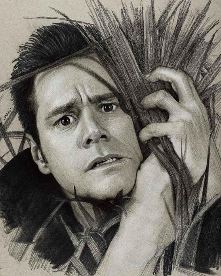 graphite drawing sketches jimcarrey
