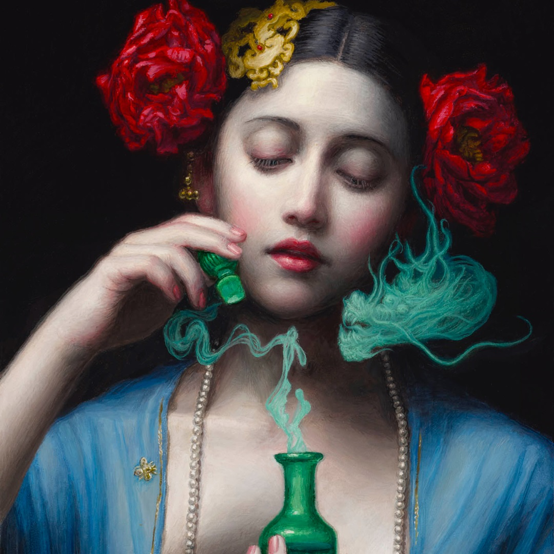 surreal art painting poison