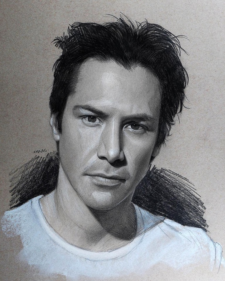 graphite drawing sketches keanureeves
