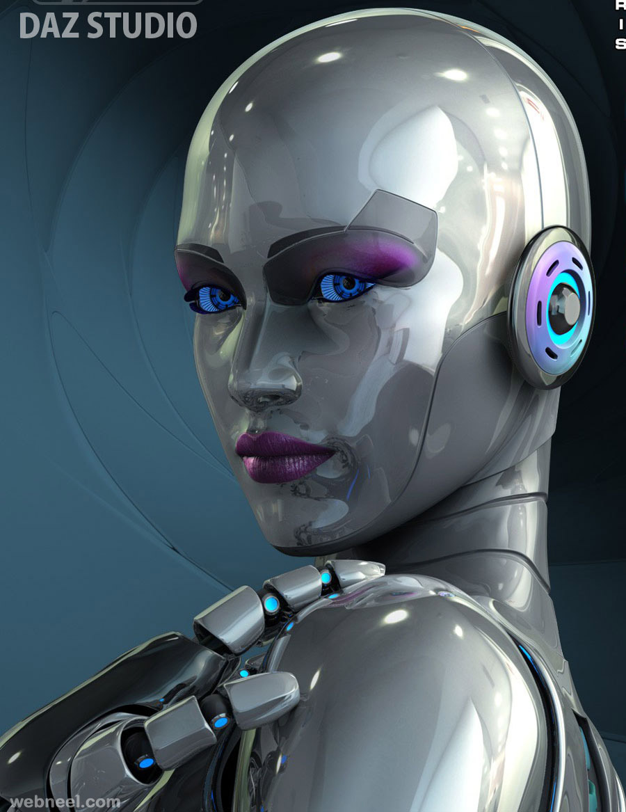 3d Woman Robot Character Design 1 Preview