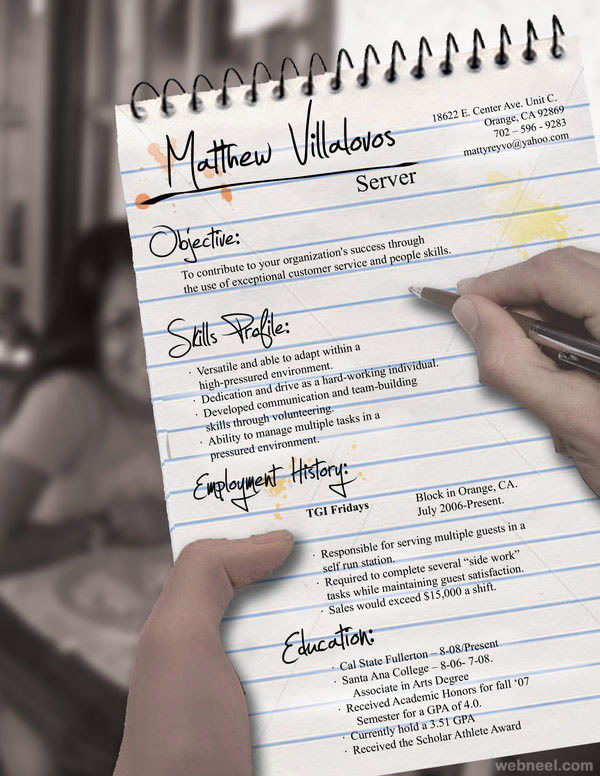 Creative Resume Design 2016