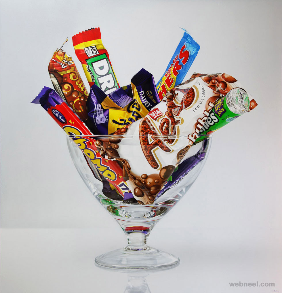 chocolate hyper realistic painting by tom martin