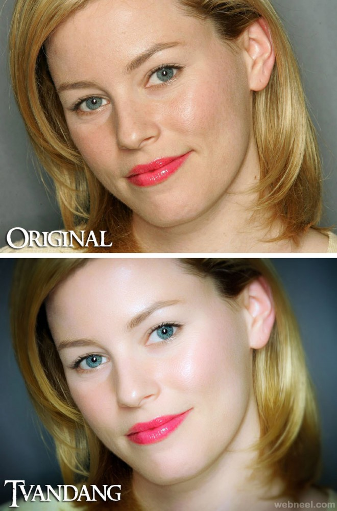 photo retouching after before