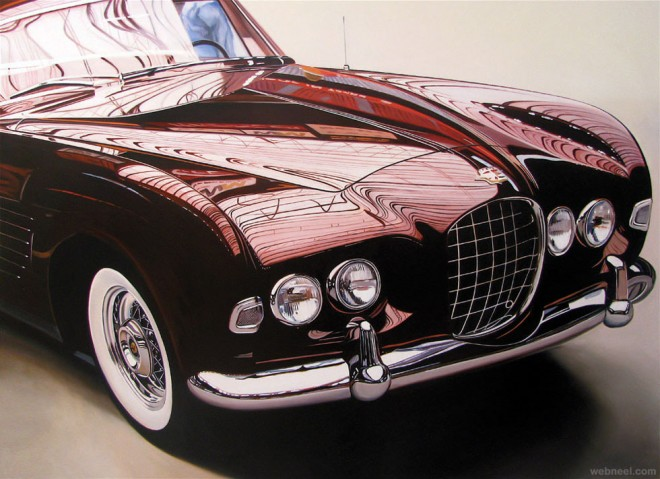 25 Extraordinary Hyper Realistic Car Paintings By Cheryl