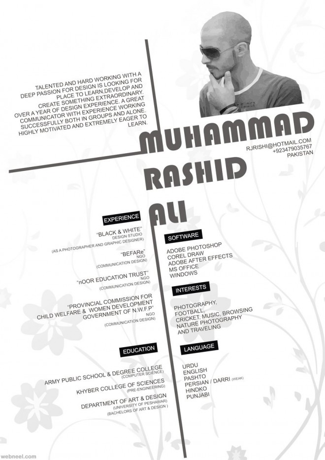 great resume example 2016 - Fashion Designer Resume Sample