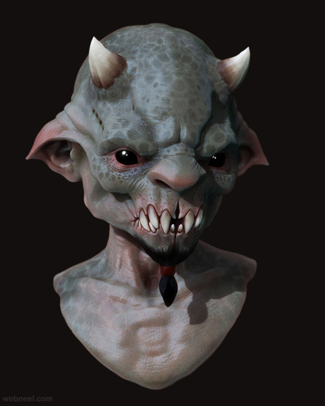 beast zbrush game character by samuel