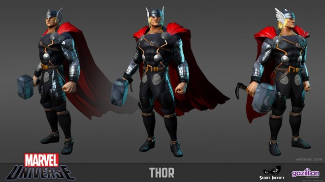 3d marvel thor game character