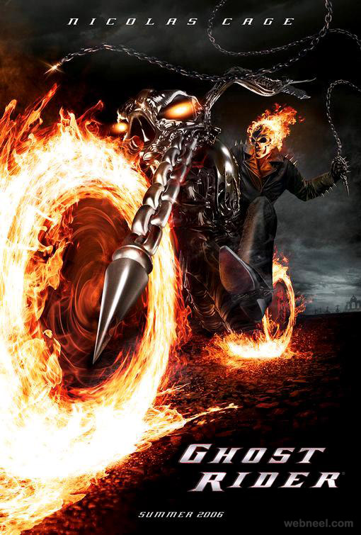 ghost rider creative movie poster