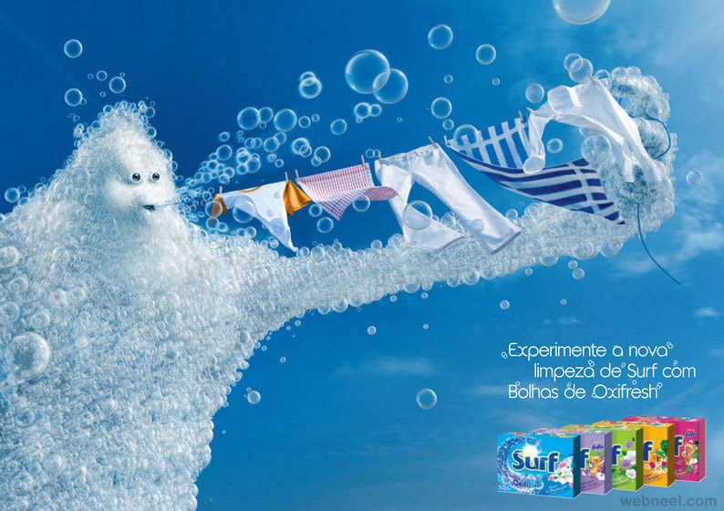 bubble surf ad photo manipulation