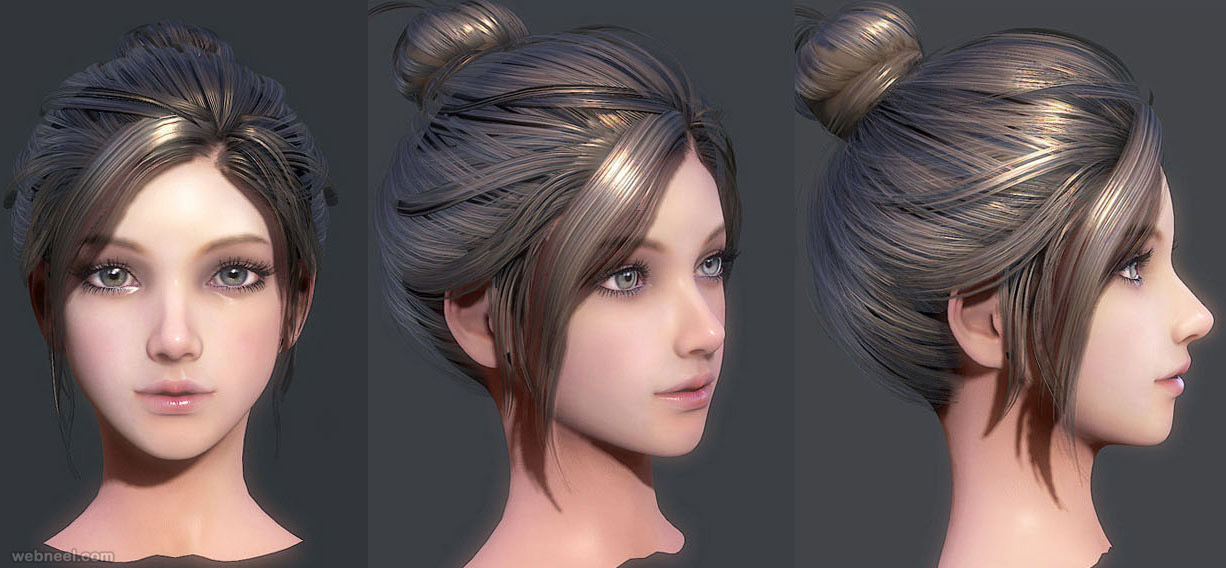 zbrush anime face: 80 Astonishing Zbrush Models And 3D Character Designs For