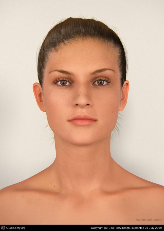 3d woman girl character